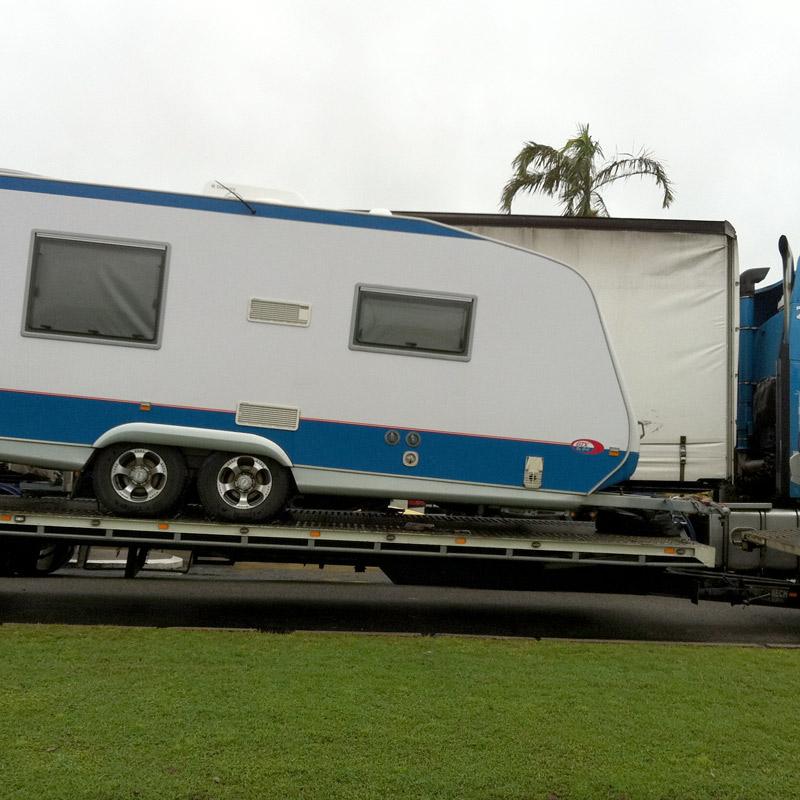 Interstate caravan transport right to your door for Door to door transport