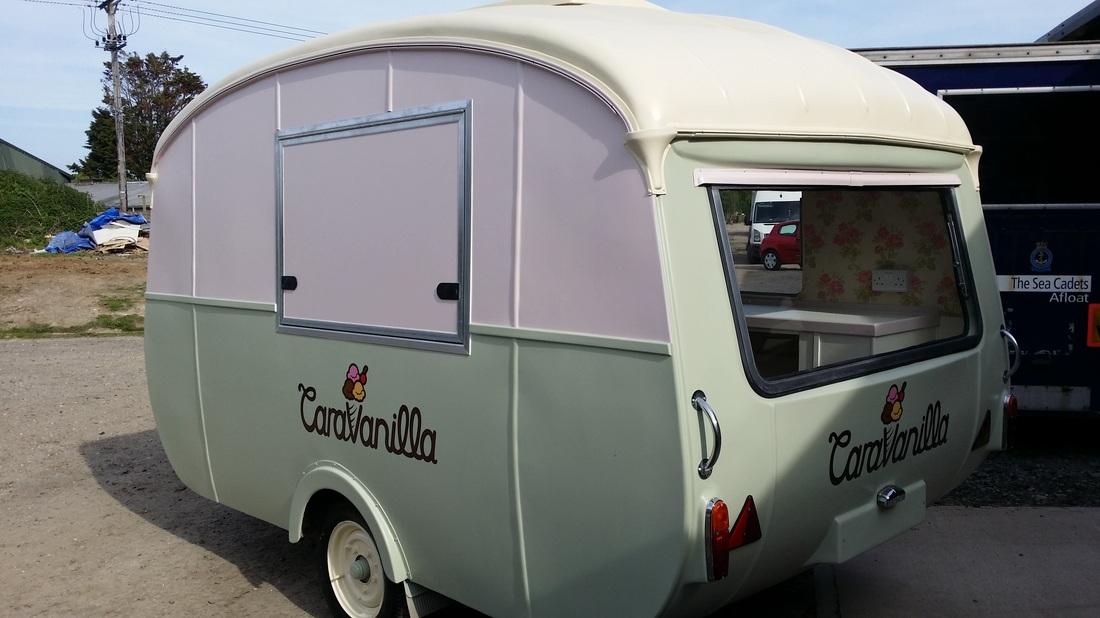 restore a vintage caravan